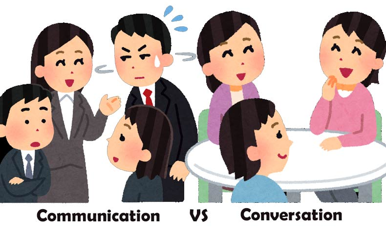 コミュニケーション(Communication)とカンバセーション(Conversation)
